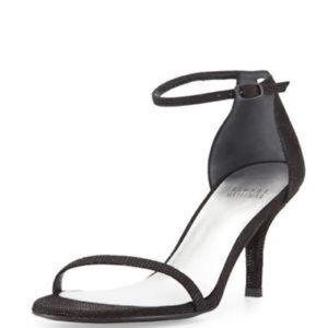 Stuart Weitzman nunaked thin strap heels 6 1/2